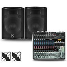 XENYX QX1832USB Mixer and Kustom HiPAC Speakers 12