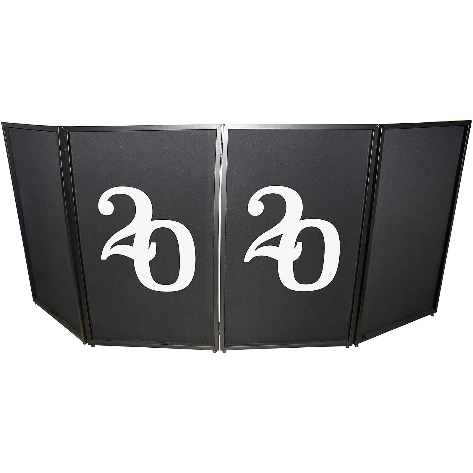 ProX XF-S2020X2 2020 New Year Facade Enhancement Scrims - White Numbers on Black   Set of Two
