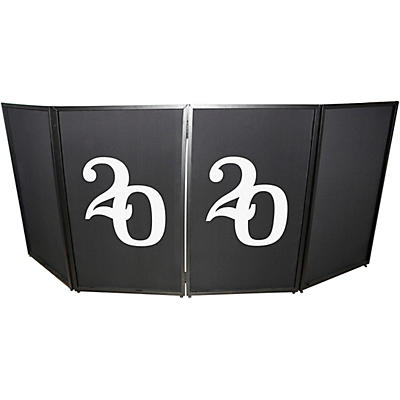 ProX XF-S2020X2 2020 New Year Facade Enhancement Scrims - White Numbers on Black | Set of Two