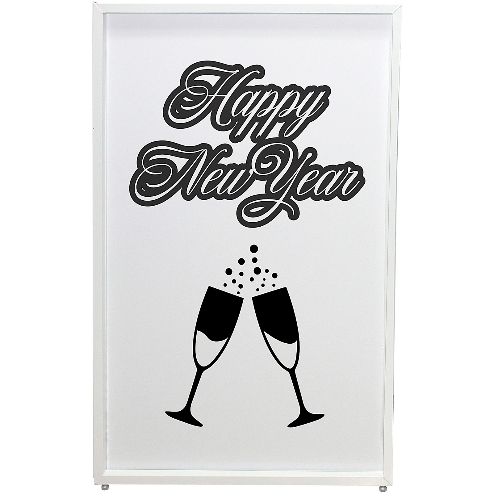 ProX XF-SNYTOAST New Year Toast Design Enhancement Scrim - Black Script on White | Set of Two