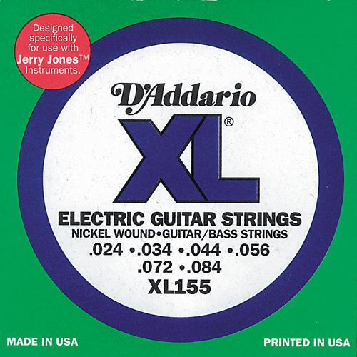 D'Addario XL155 Jerry Jones XL Electric Guitar/Bass Strings