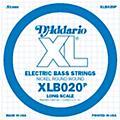 D'Addario XLB020P Electric Bass Nickel Single String thumbnail