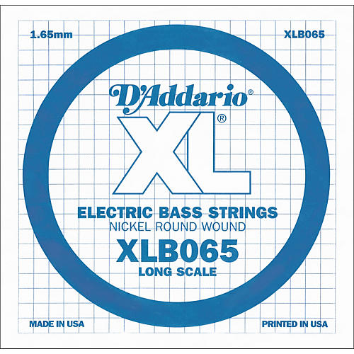D'Addario XLB065 Extra Long Single Bass String