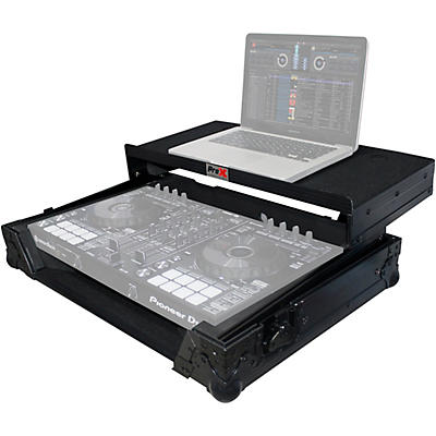 ProX XS-DDJSRLTBL Black ATA Style Flight Road Case with Glide Laptop Shelf for DDJ-SR and DDJ-RR Controller