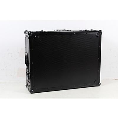ProX XS-DJ808WBL Black ATA Style Flight Road Case for Roland DJ-808 or Denon MC7000  w/ Wheels Black on Black