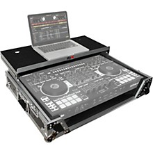 Open Box ProX XS-DJ808WLTBL Black ATA Style Flight Road Case with Wheels for Roland DJ-808 and Denon MC7000