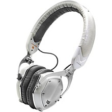 XS On-Ear Folding Design Noise-Isolating Metal Headphone White Silver