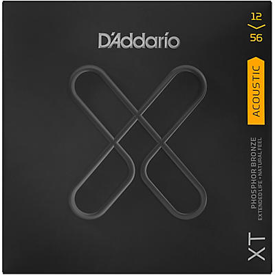 D'Addario XT Acoustic Phosphor Bronze Strings, Light Top/Medium Bottom, 12-56