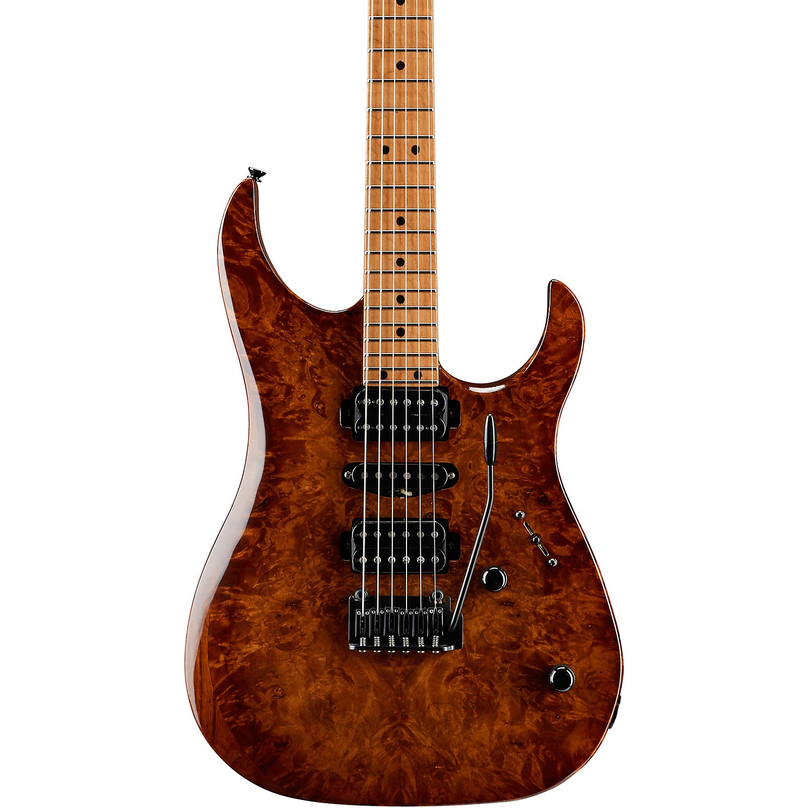 LsL Instruments XT4-DX 24 Fret Exotic HSH Roasted Burl Maple Top Electric Guitar