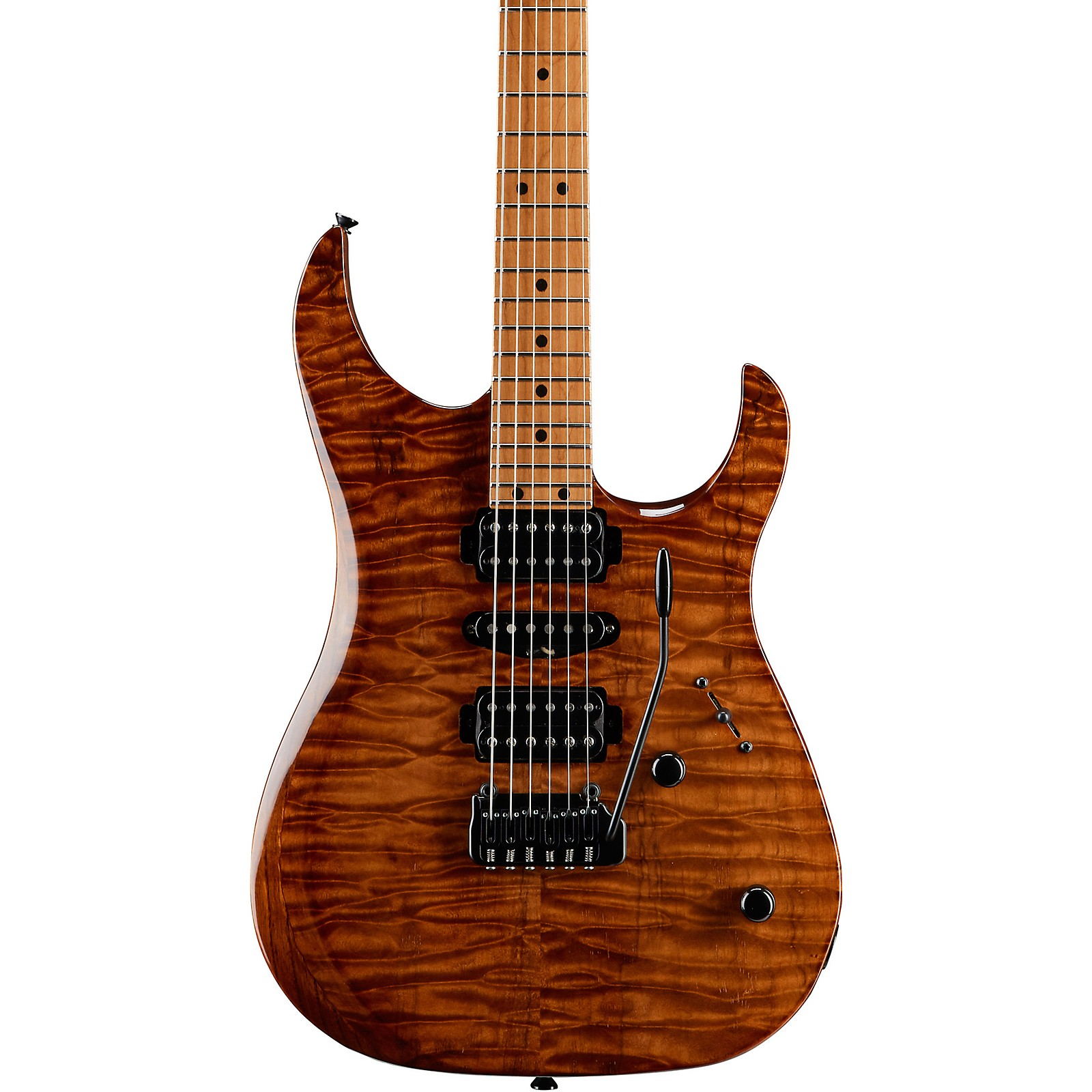 LsL Instruments XT4-DX 24 Fret Exotic HSH Roasted Quilt Maple Top Electric Guitar