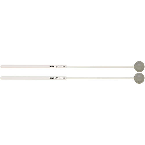 Musser Xylophone Mallets Medium Hard Grey Rubber 1 in.