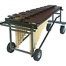 YM2400 4 1/3 Octave Acoustalon Marimba Mallet Percussion with T-2400 Tough Terrain Frame And Drop Cover