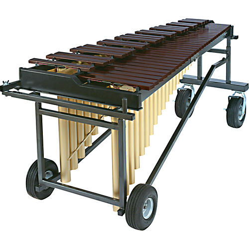Yamaha YM2400 4 1/3 Octave Acoustalon Marimba Mallet Percussion with T-2400 Tough Terrain Frame And Drop Cover