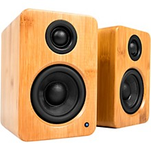 YU2 Powered Desktop Speakers Bamboo