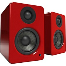 YU2 Powered Desktop Speakers Gloss Red