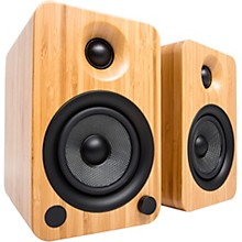 YU4 Powered Speakers with Bluetooth and Phono Preamp Bamboo