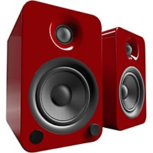 YU4 Powered Speakers with Bluetooth and Phono Preamp Gloss Red