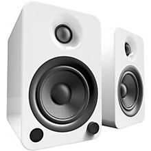YU4 Powered Speakers with Bluetooth and Phono Preamp Gloss White