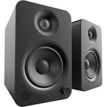 YU4 Powered Speakers with Bluetooth and Phono Preamp Matte Black