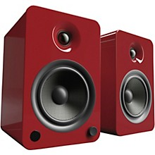YU6 Powered Speakers with Bluetooth and Phono Preamp Gloss Red