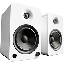 YU6 Powered Speakers with Bluetooth and Phono Preamp Gloss White