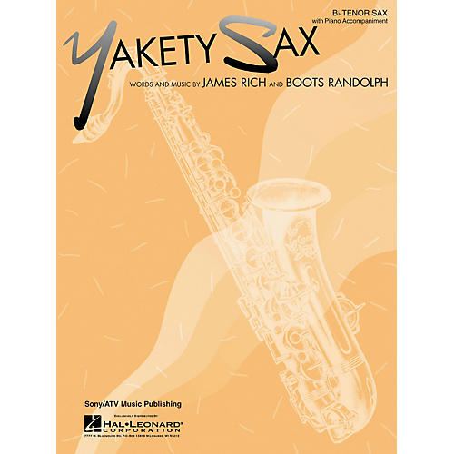 Hal Leonard Yakety Sax for B Flat Tenor Saxophone with Piano Accompaniment Songbook