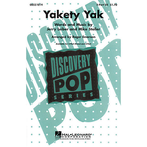 Hal Leonard Yakety Yak 2-Part arranged by Roger Emerson