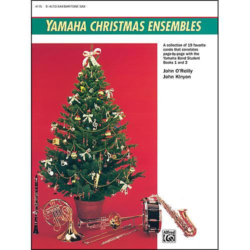 Alfred Yamaha Christmas Ensembles Alto Sax Baritone Sax