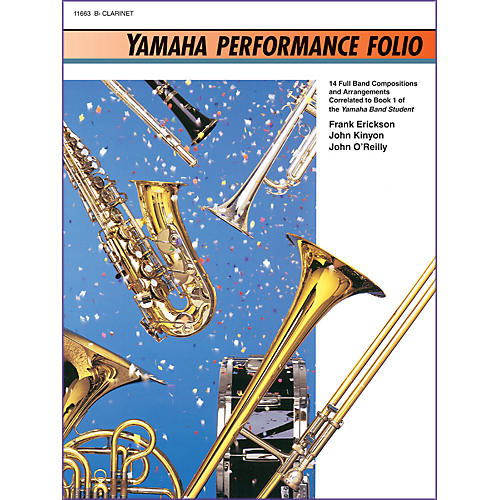 Alfred Yamaha Performance Folio B-Flat Clarinet