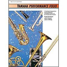 Alfred Yamaha Performance Folio E-Flat Alto Saxophone