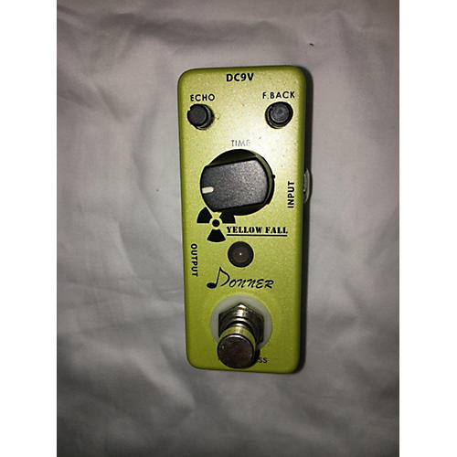 Yellow Fall Effect Pedal