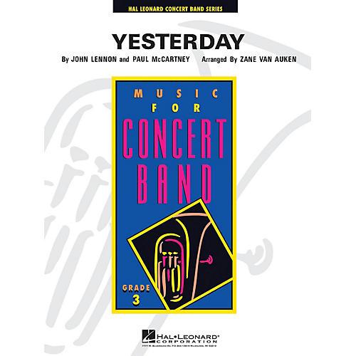 Hal Leonard Yesterday - Young Concert Band Level 3 arranged by Zane Van Auken