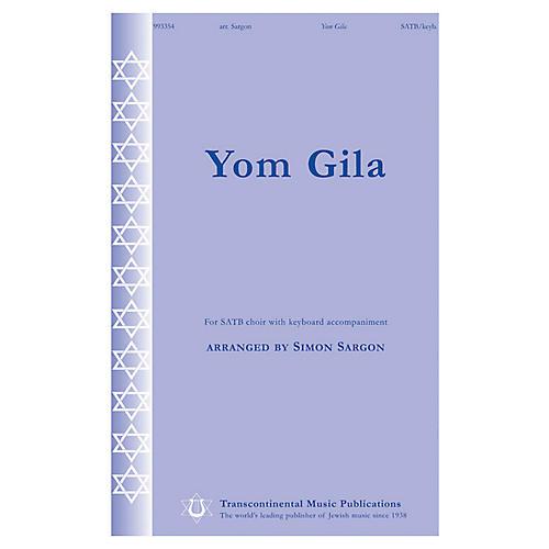 Transcontinental Music Yom Gila SATB arranged by Simon Sargon