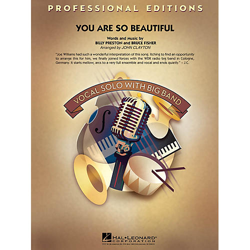 Hal Leonard You Are So Beautiful (Key: C, Db) Jazz Band Level 5 Arranged by John Clayton