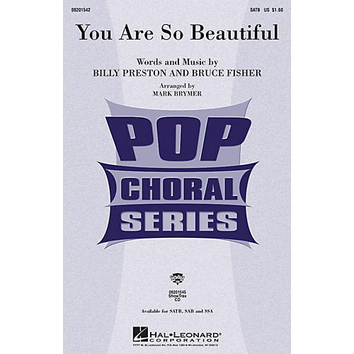 Hal Leonard You Are So Beautiful SSA by Joe Cocker Arranged by Mark Brymer