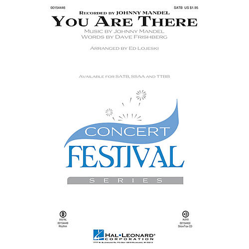 Hal Leonard You Are There TTBB Arranged by Ed Lojeski