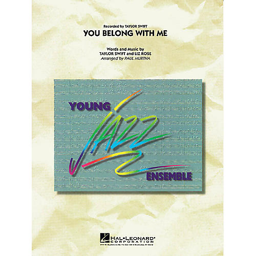 Hal Leonard You Belong with Me Jazz Band Level 3 Arranged by Paul Murtha
