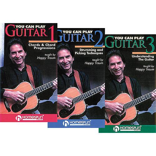 Homespun You Can Play Guitar 3-Video Set (VHS)