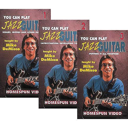 Homespun You Can Play Jazz Guitar 3-Video Set (VHS)