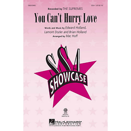 Hal Leonard You Can't Hurry Love SSA by The Supremes arranged by Mac Huff
