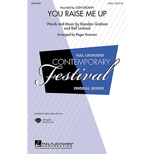Hal Leonard You Raise Me Up SAB by Josh Groban Arranged by Roger Emerson