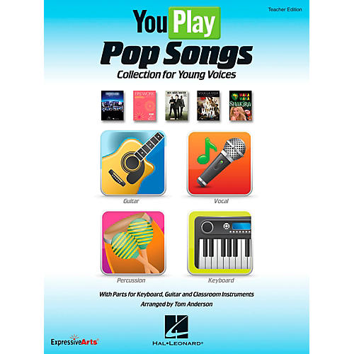 Hal Leonard YouPlay Pop Songs Collection for Young Voices, Teacher's Edition