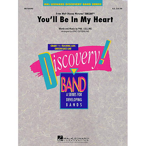 Hal Leonard You'll Be in My Heart (Pop Version) Concert Band Level 1 1/2 Arranged by Eric Osterling