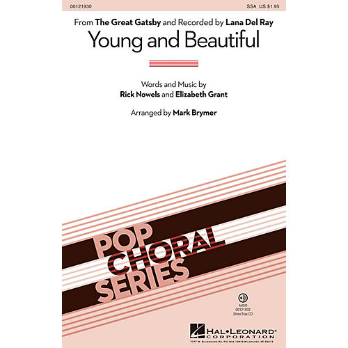 Hal Leonard Young and Beautiful ShowTrax CD by Lana Del Rey Arranged by Mark Brymer