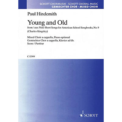 Schott Young and Old SATB a cappella Composed by Paul Hindemith