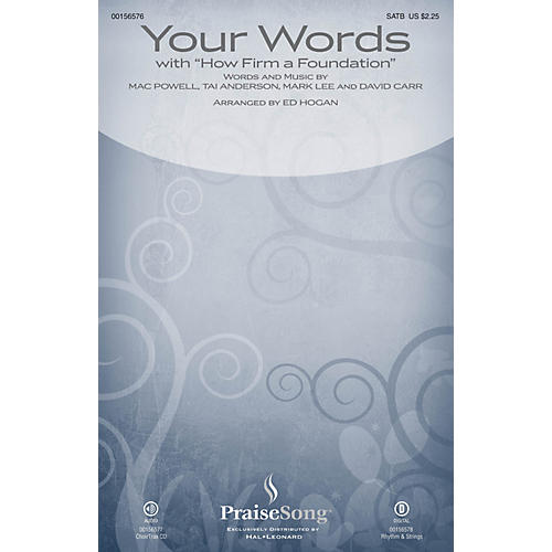PraiseSong Your Words (with How Firm a Foundation) SATB by Third Day arranged by Ed Hogan