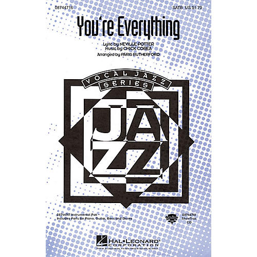 Hal Leonard You're Everything SATB arranged by Paris Rutherford