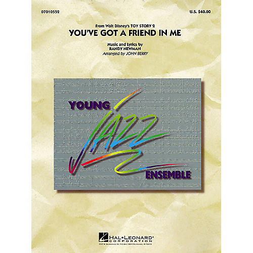 Hal Leonard You've Got a Friend in Me Jazz Band Level 3 Arranged by John Berry