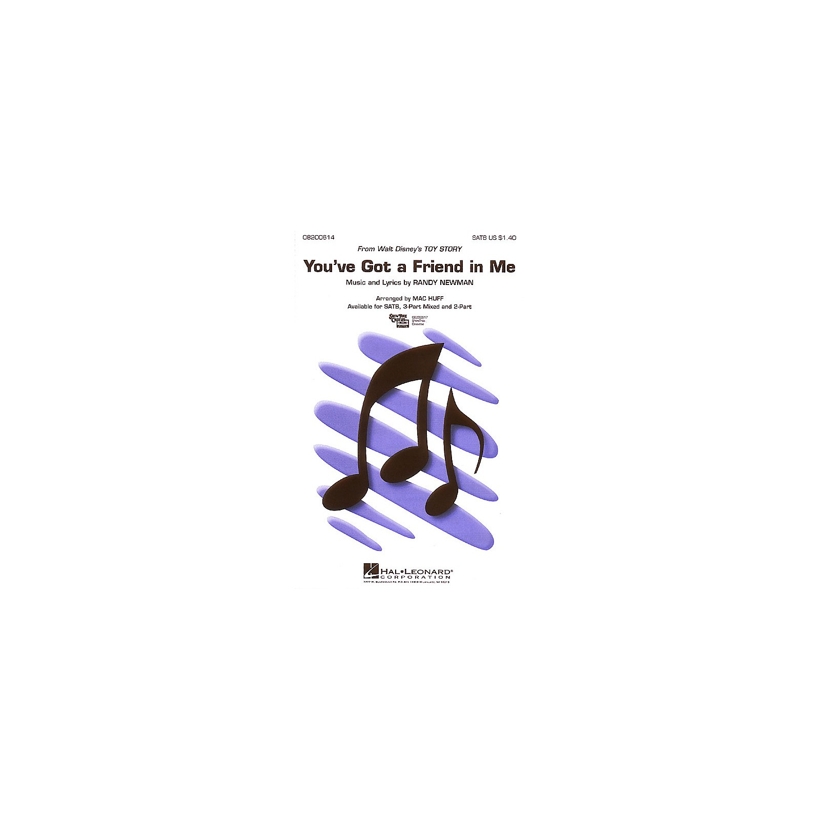 Hal Leonard You've Got a Friend in Me (from Toy Story) ShowTrax CD Arranged by Mac Huff