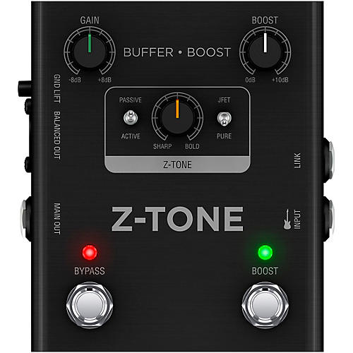IK Multimedia Z-TONE Buffer Boost Effects Pedal Black